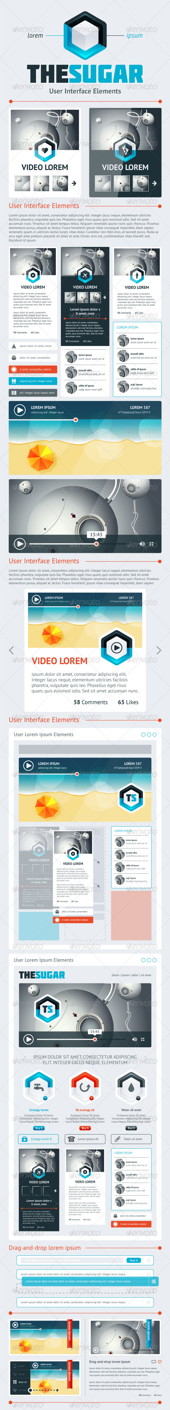 Elements of Infographics with Buttons and Menus - Miscellaneous Conceptual