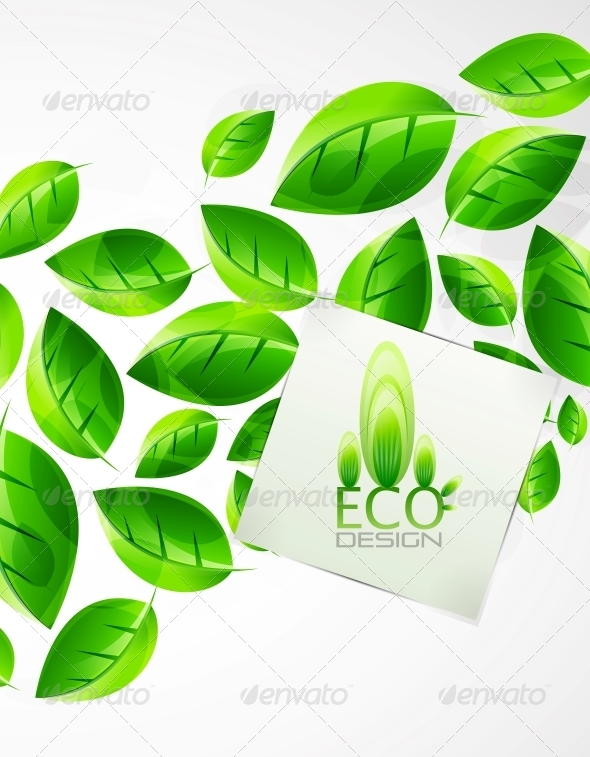 Nature Green Leaf Background - Miscellaneous Vectors