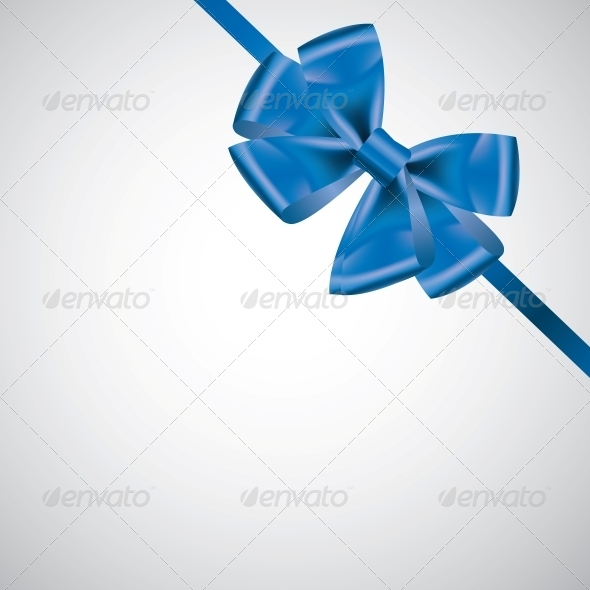 Ribbon with Bow on White - Miscellaneous Vectors