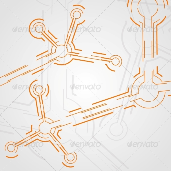 Circuit Board Vector Background - Abstract Conceptual