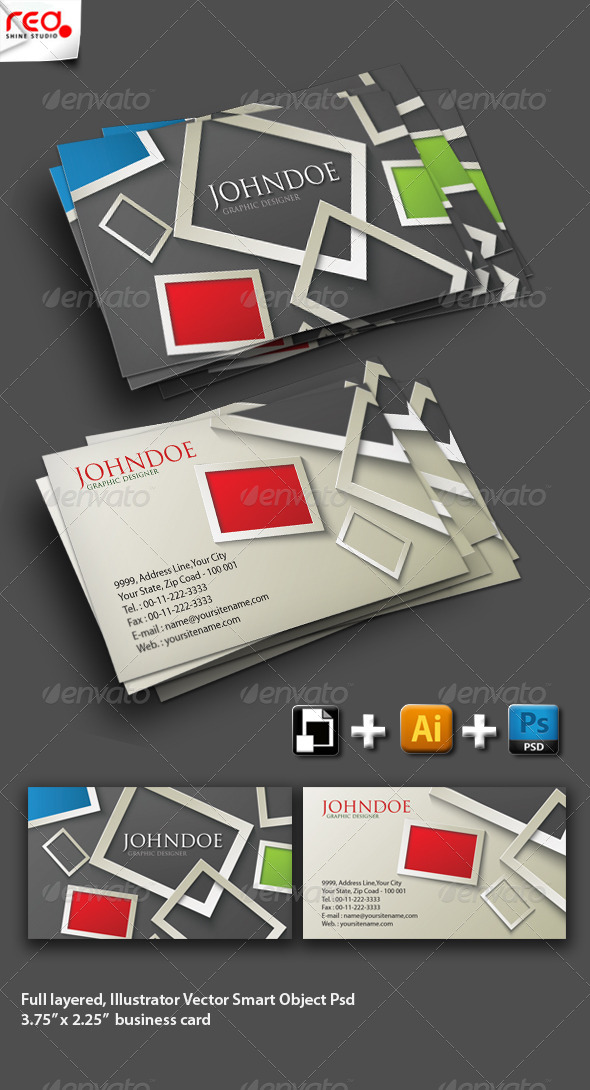 Modern Stylish Business Card Set by redshinestudio | GraphicRiver