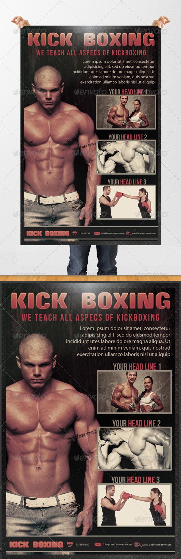 Kick Boxing Flyer - Sports Events