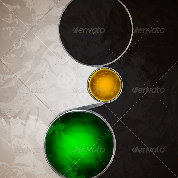 Abstract Background with Glass Balls as Vector - Miscellaneous Vectors