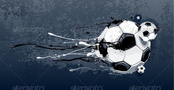 Abstract Image of Soccer Balls - Vectors