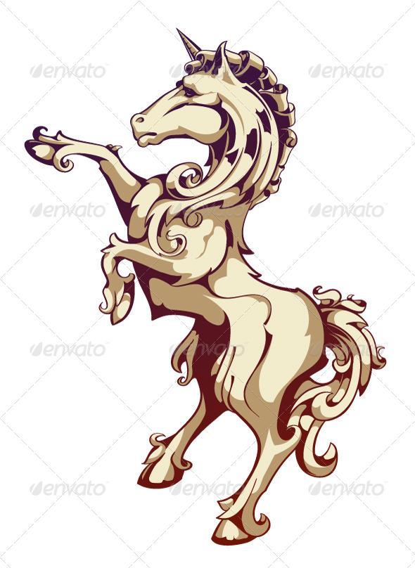 Vintage Horse - Vectors