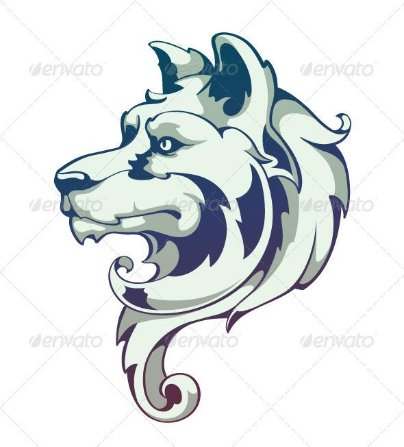 Wolf Head - Vectors
