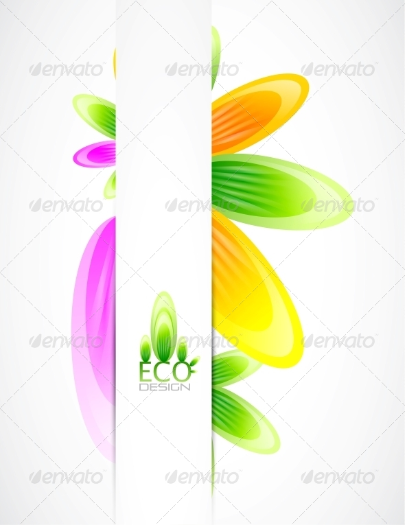 Abstract Flowers Vector Background - Miscellaneous Vectors