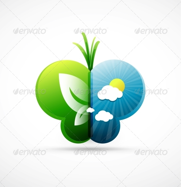Nature Butterfly Concept - Miscellaneous Vectors
