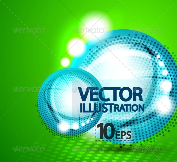 Shiny Bubble Background - Miscellaneous Vectors