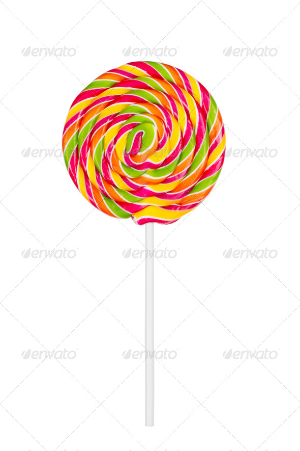 lollipop isolated on white - Stock Photo - Images
