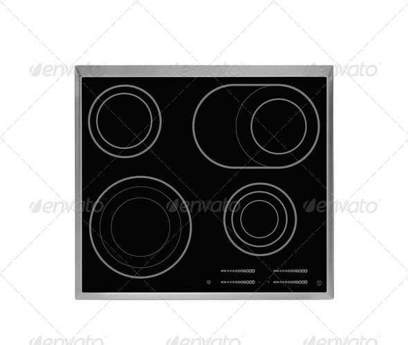 Electrical hob isolated - Stock Photo - Images