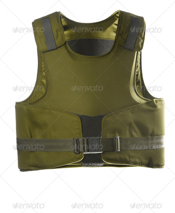 Green Bulletproof vest - Stock Photo - Images