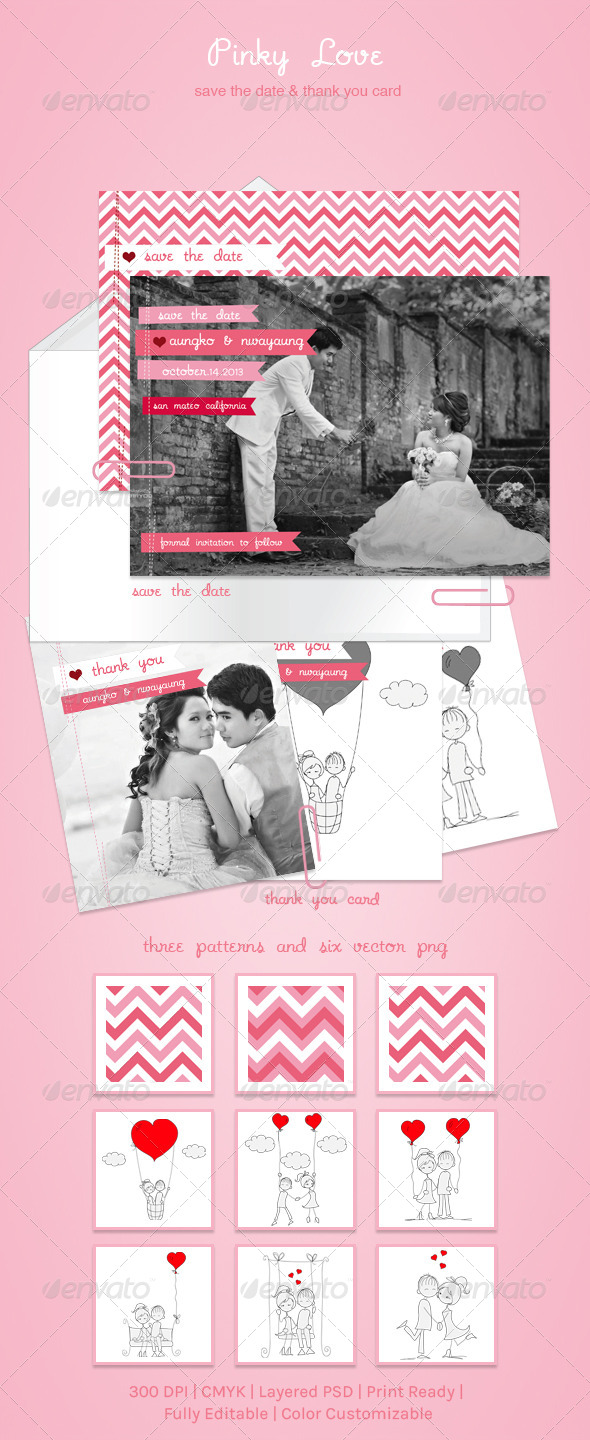Pinky Love - Weddings Cards & Invites