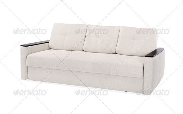 textile sofa isolated - Stock Photo - Images