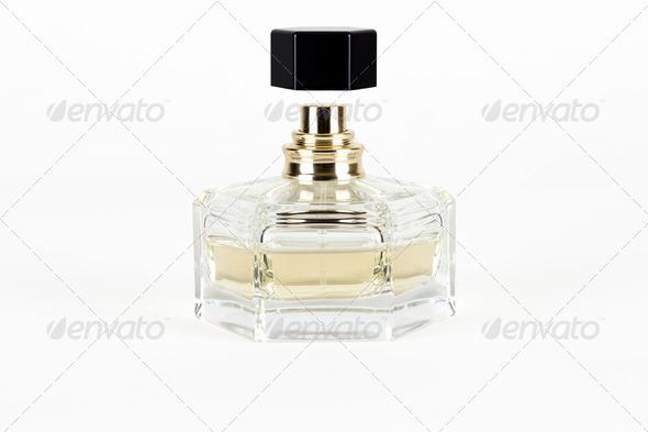 bottle of perfume isolated on white background - Stock Photo - Images
