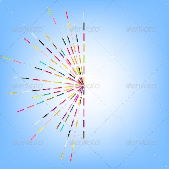 Vector Illustration of Colored Pencils - Miscellaneous Vectors