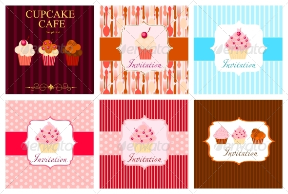 The Concept of Cupcakes Cafe Menu - Miscellaneous Vectors