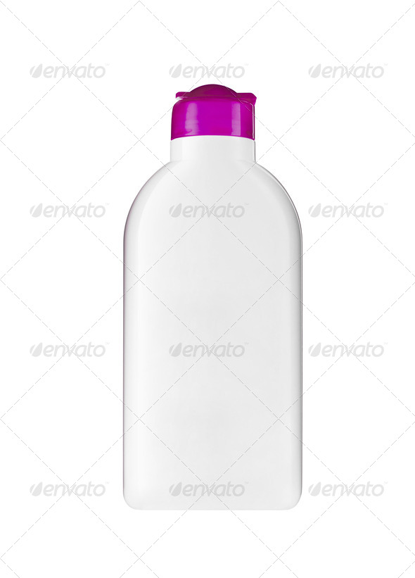 Plastic bottle with soap or shampoo - Stock Photo - Images