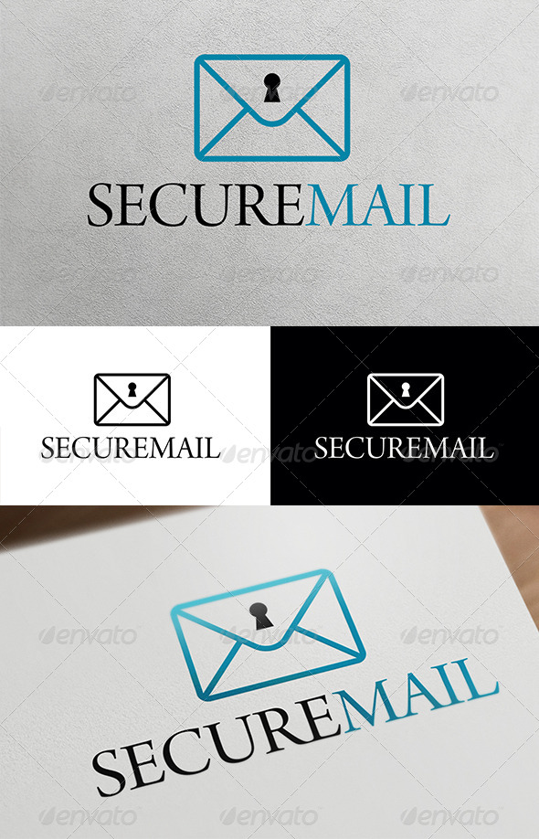 Secure Mail  - Objects Logo Templates