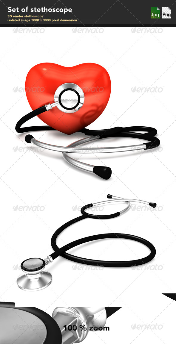Stethoscope - Objects 3D Renders