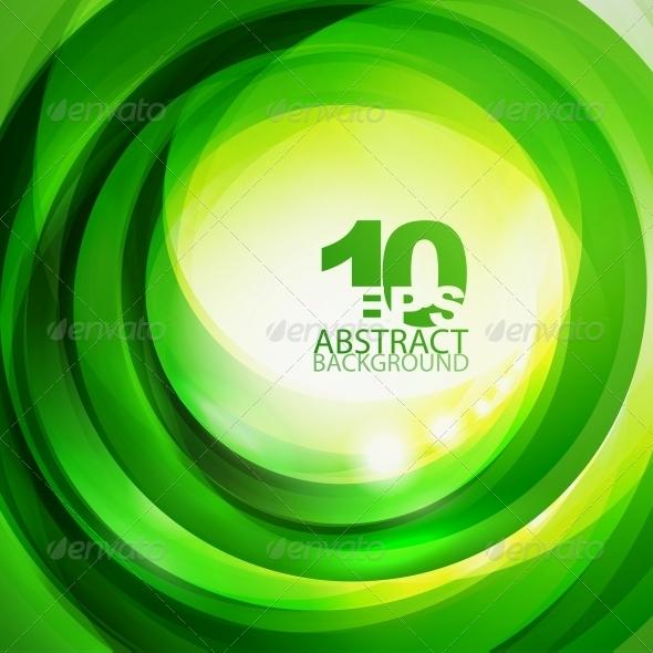 Green Bright Swirl Background - Miscellaneous Vectors