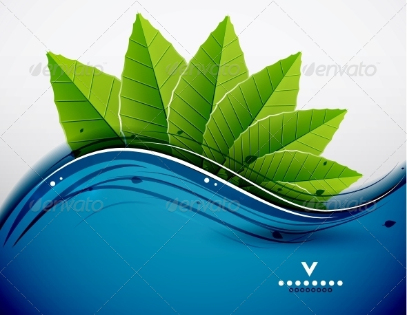 Green Leaves Nature Design - Backgrounds Decorative