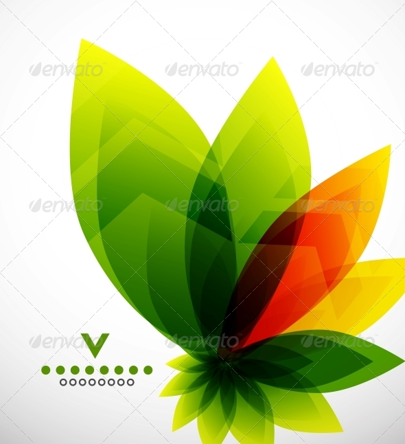 Abstract Flower Design Template - Flowers & Plants Nature