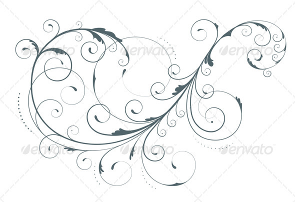 Floral Decorative Element - Flourishes / Swirls Decorative