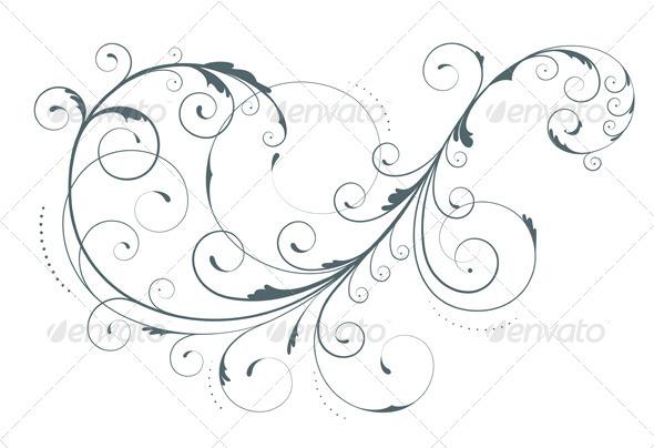 Floral Decorative Element - Flourishes / Swirls Decorative