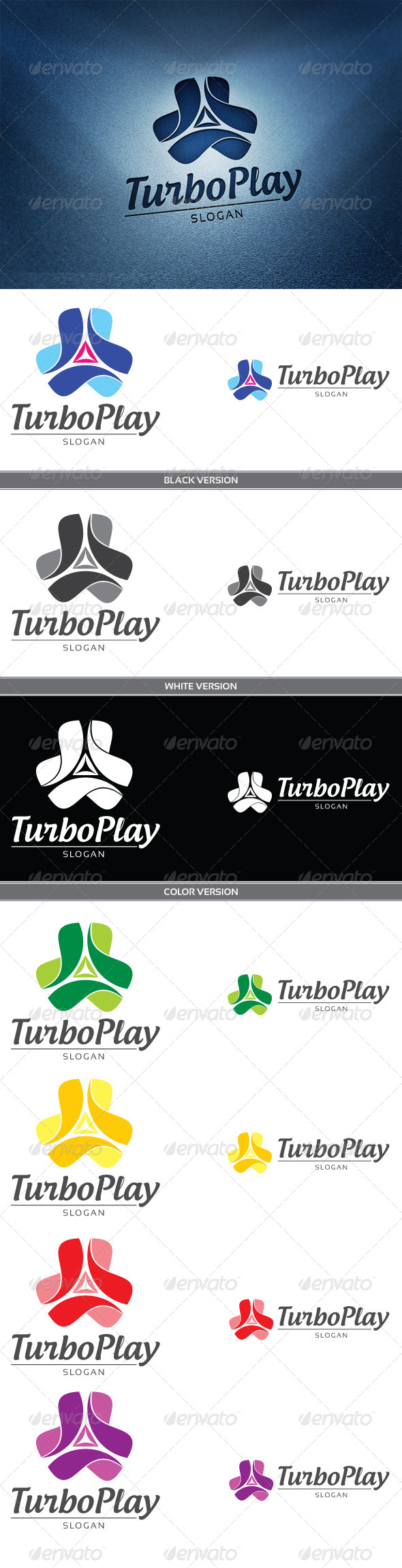 Turbo Play - Objects Logo Templates