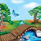 Wooden Bridge in Zen Landscape - GraphicRiver Item for Sale