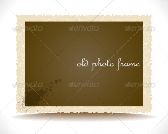 Old Photo Frame - Backgrounds Decorative