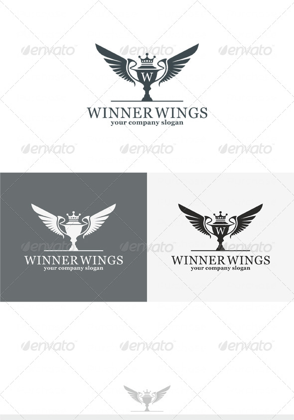 Winner Wings Logo - Crests Logo Templates