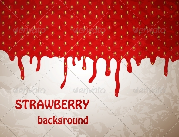 Fresh Strawberry Background, Vector Illustration - Miscellaneous Vectors