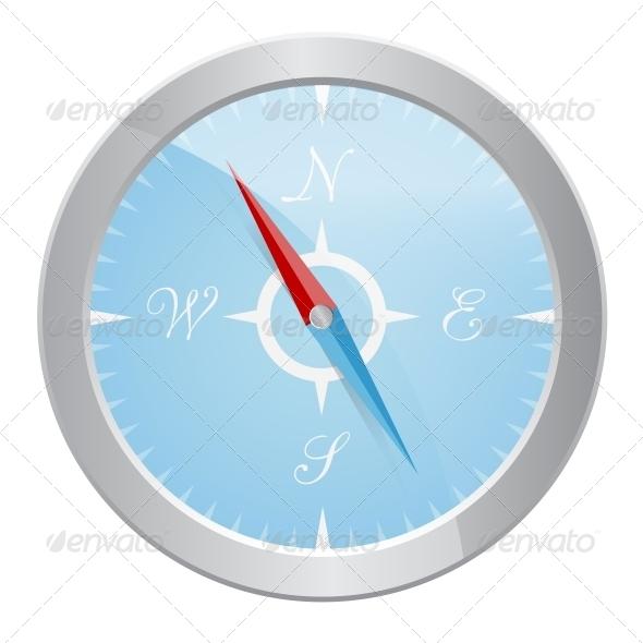 Design of Silver Compass - Travel Conceptual