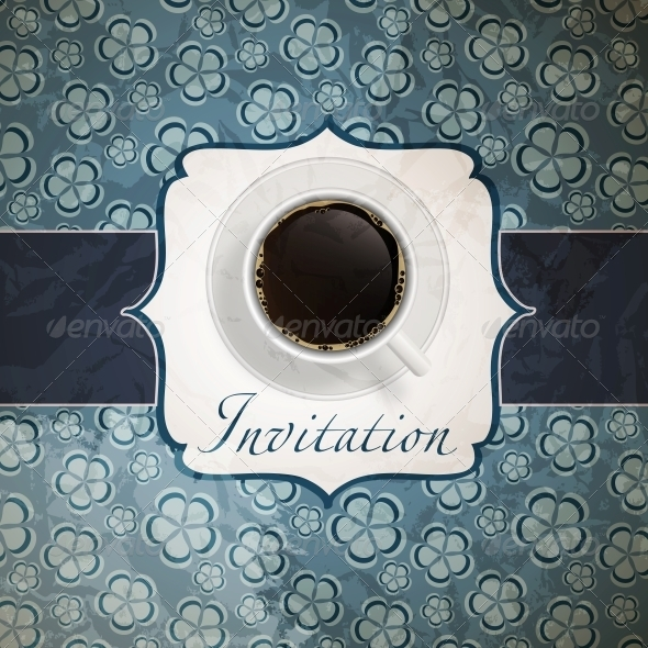 Coffee Invitation Background - Miscellaneous Vectors