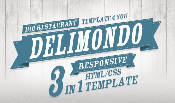 Delimondo Fully Responsive HTML | 3 Styles