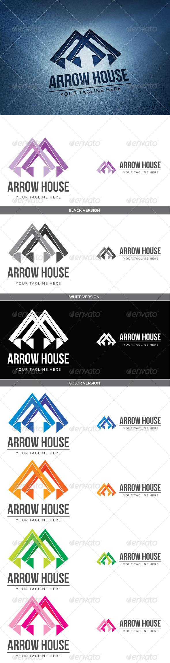 Arrow house - Symbols Logo Templates