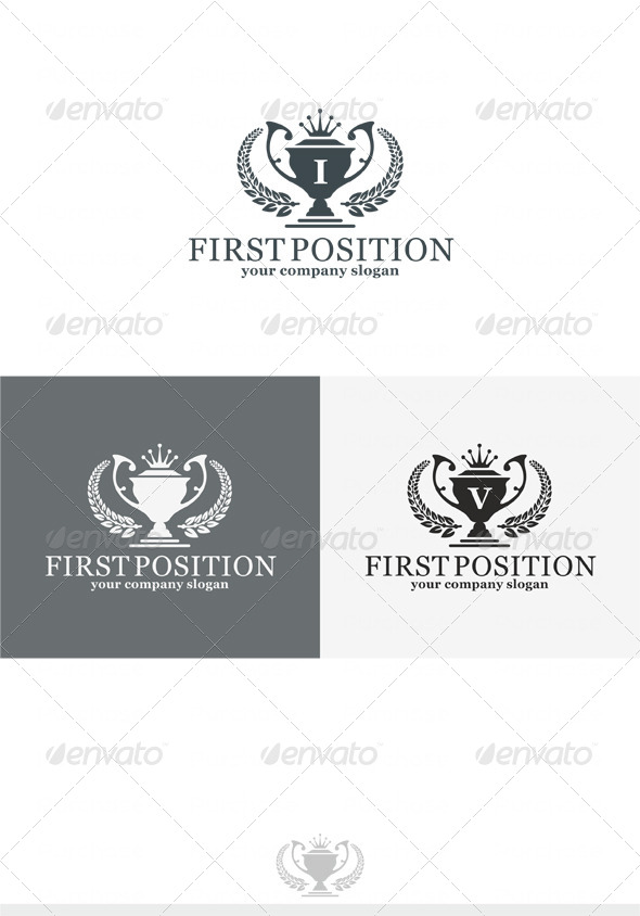First Position Logo - Crests Logo Templates