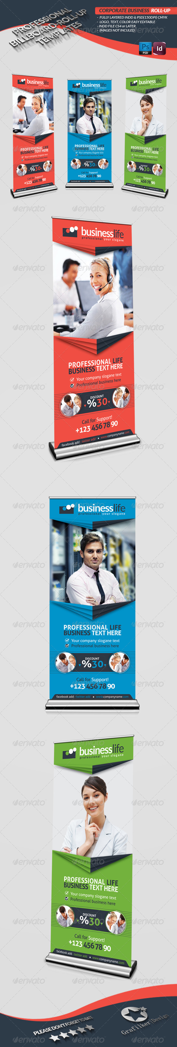 Corporate Business Roll-Up - Signage Print Templates
