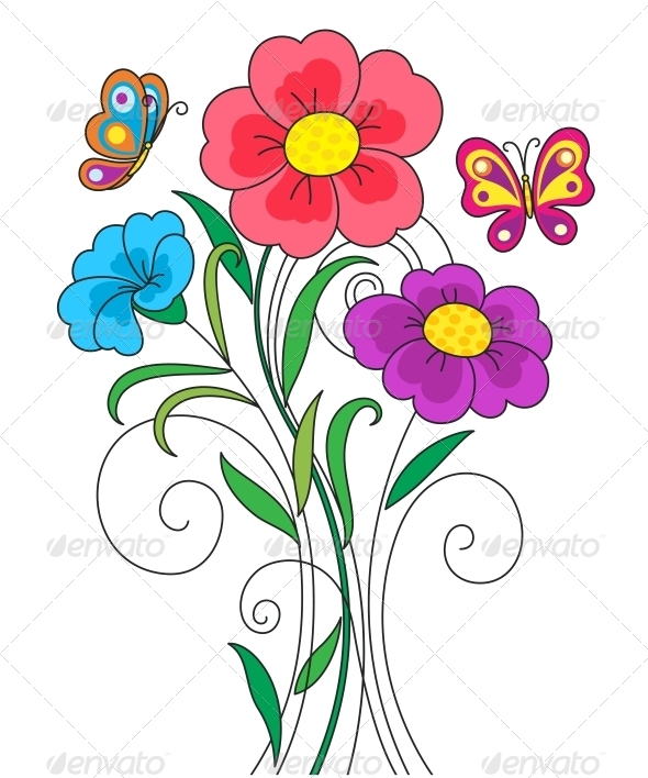 Kidstyle Flower Illustration - Flowers & Plants Nature