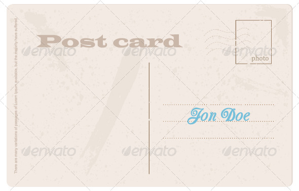 Post Card - Backgrounds Decorative