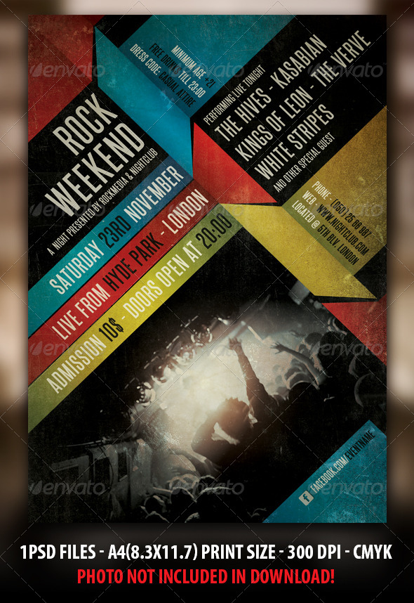 Indie Rock Concert Flyer  Poster By Fadeink  Graphicriver