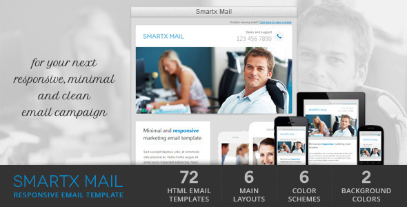 Smartx Mail – Responsive Email Template