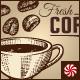 Vintage Coffee Cafe Vector Elements Set  - GraphicRiver Item for Sale