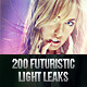200 Futuristic Light Leaks - GraphicRiver Item for Sale