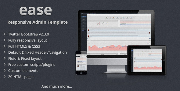 ease – Responsive Admin Template