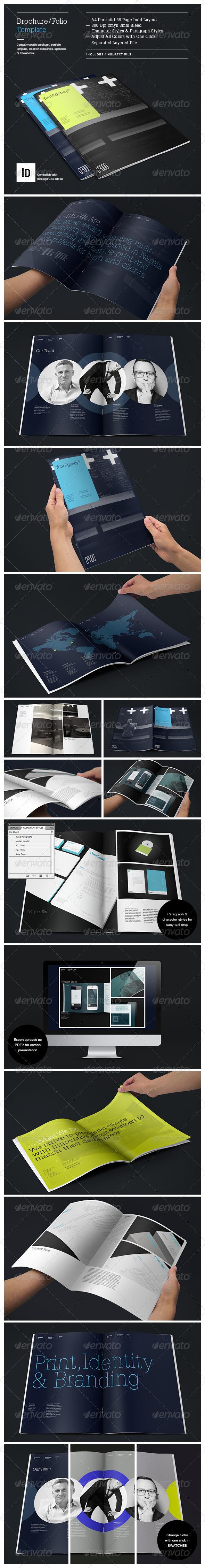 Brochure Portfolio Template - Brochures Print Templates