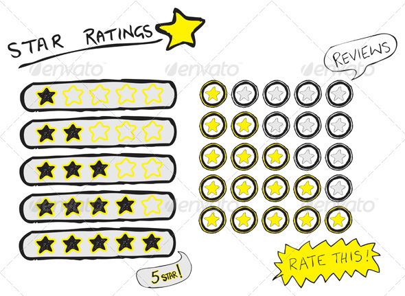 Star Ratings Sketch - Web Technology
