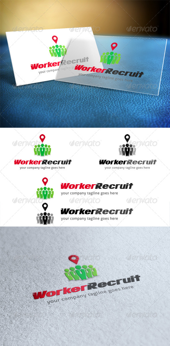 Worker Recruit Logo - Humans Logo Templates